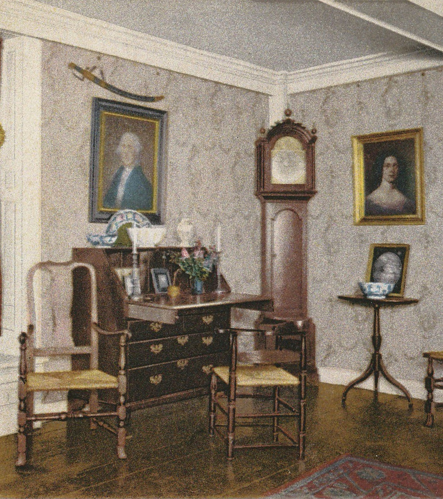 Parlor House of Seven Gables Salem MA Postcard Close Up 2