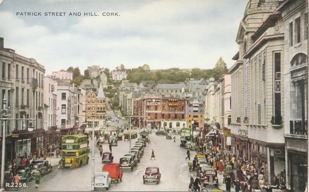 Patrick Street and Hill Cork Ireland Antique Postcard