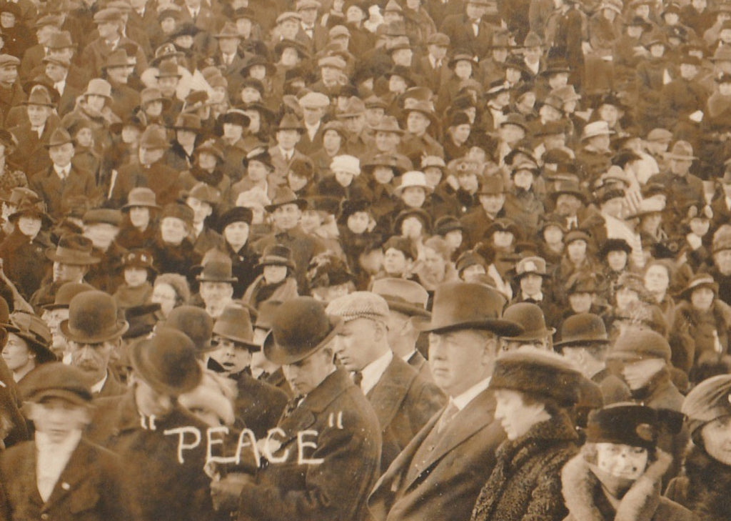 Peace WWI Armistice RPPC Close Up