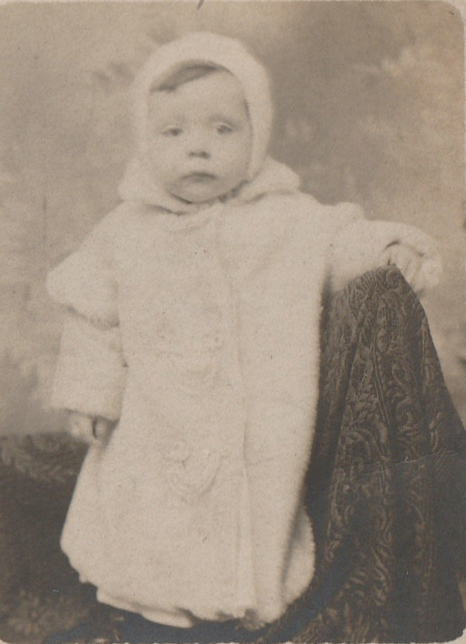 Peep Boo Ghostly Baby RPPC Close UP