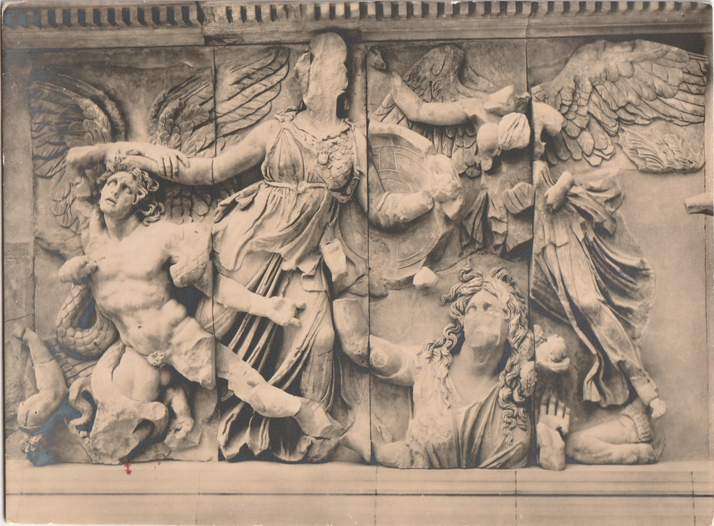 The Pergamon Altar Goddess Athena in Battle Statue Photo
