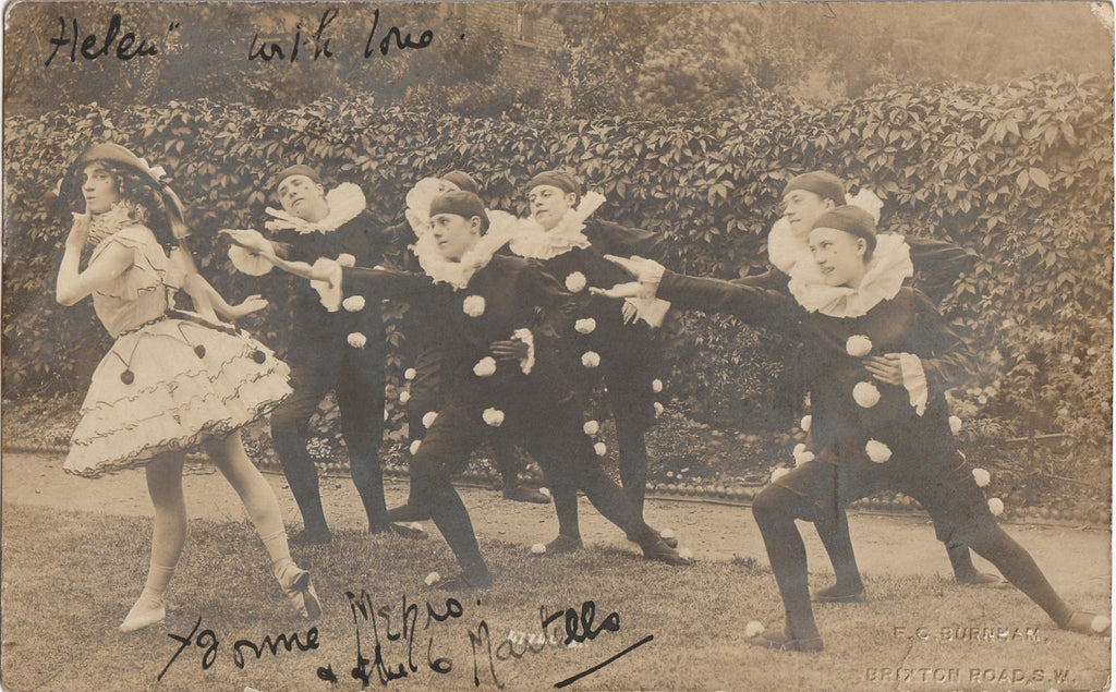 Pierrot and Columbine RPPC