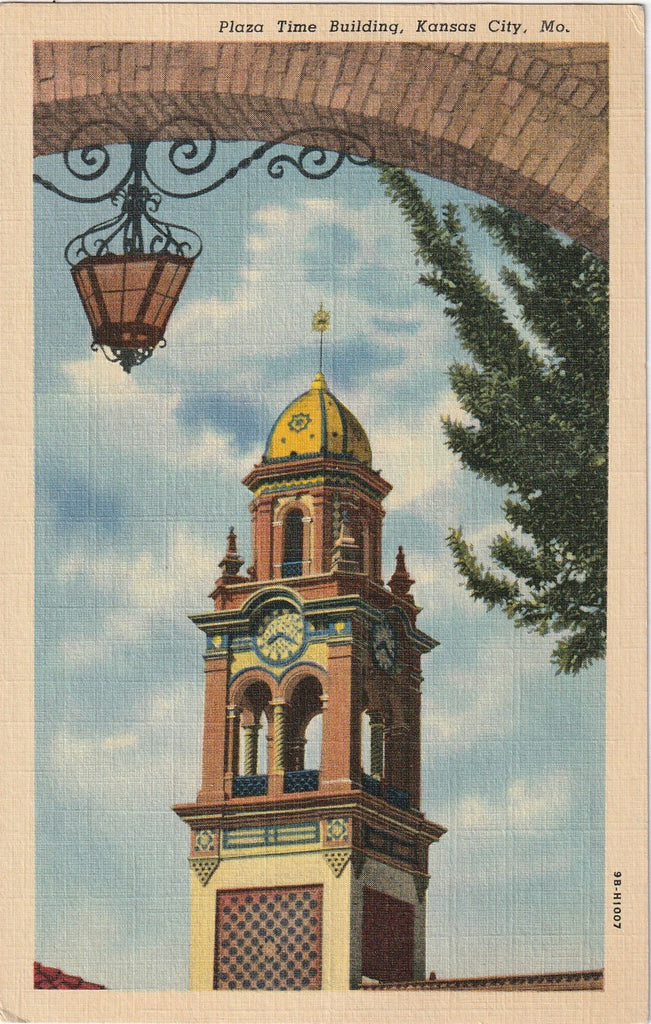 Plaza Time Building Kansas City Missouri Postcard