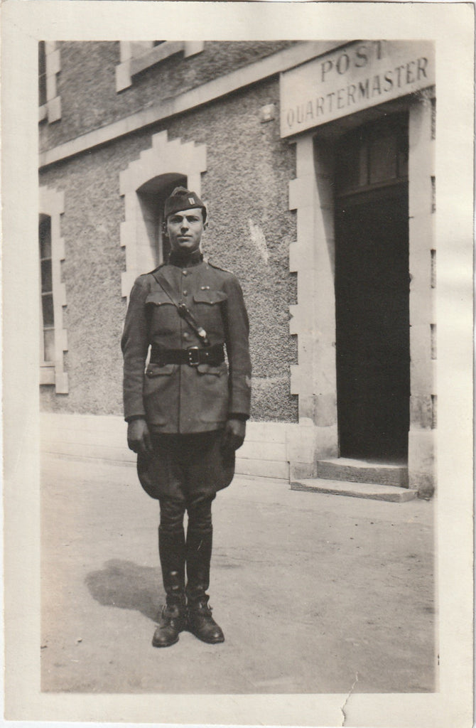 Post Quartermaster WWI Air Service Antique Photo