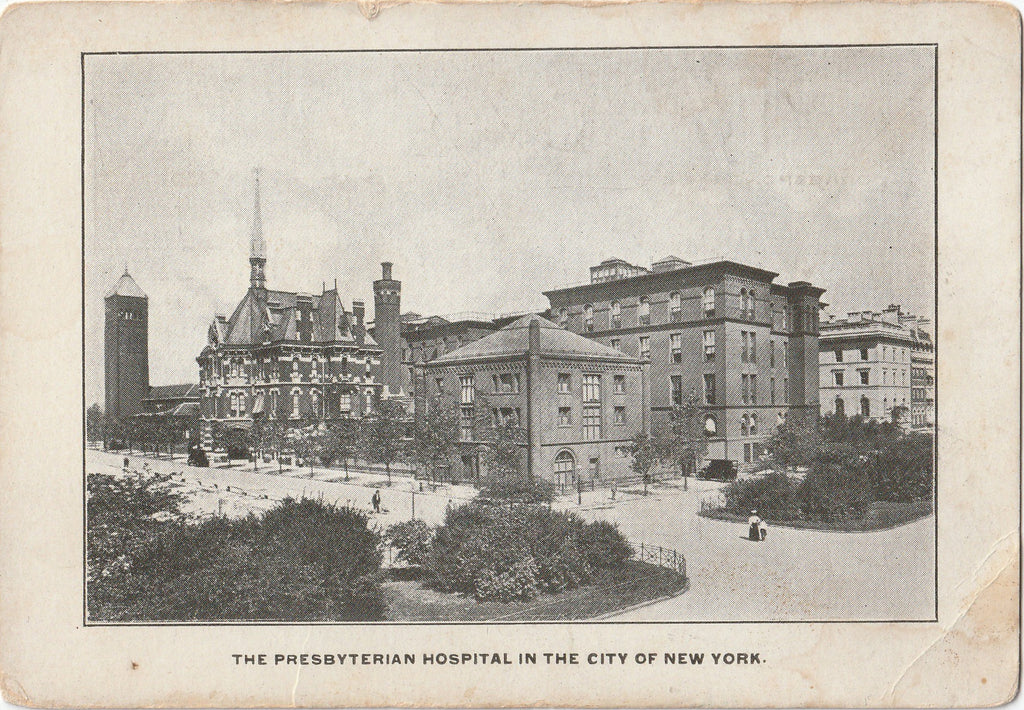 Presbyterian Hospital New York City Antique Postcard