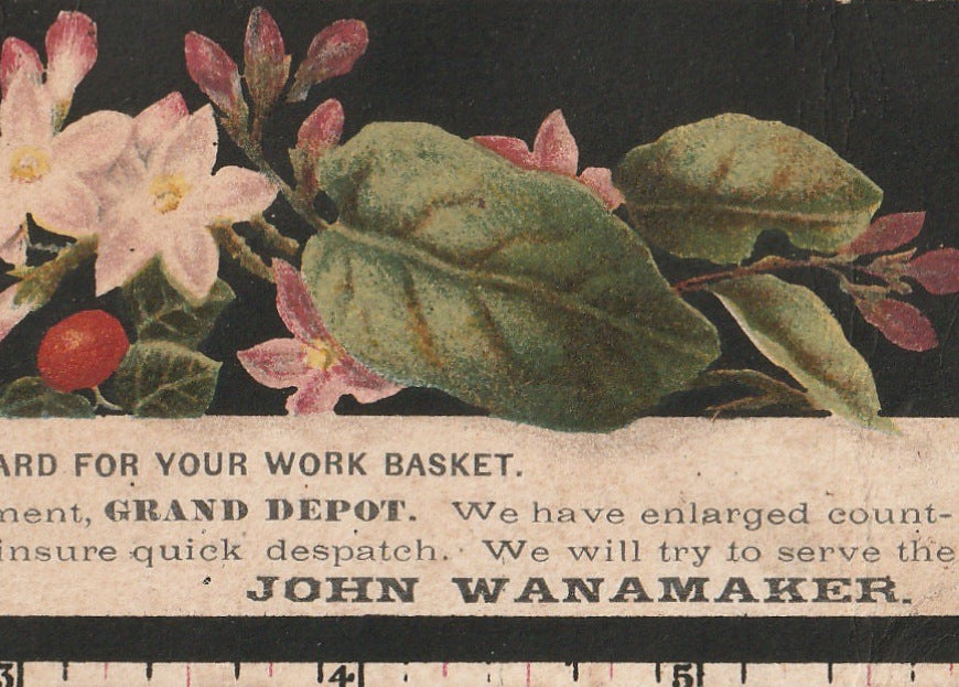Preserve This Measure Card John Wanamaker Trade Card Close Up 2