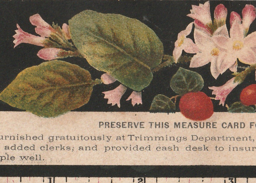 Preserve This Measure Card John Wanamaker Trade Card Close Up