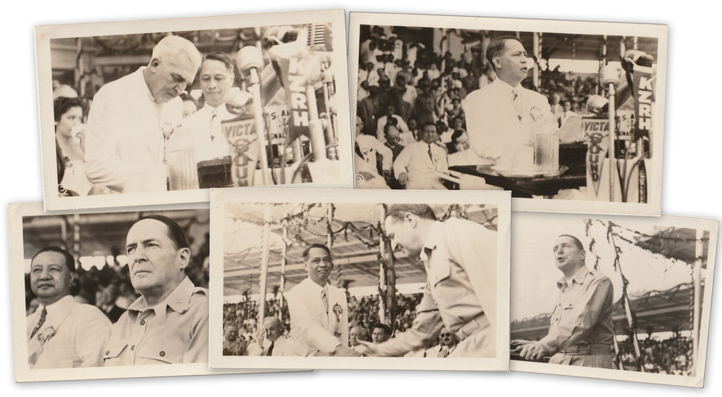 President Manuel Roxas Inauguration July 4th, 1946 Photos SET of 5