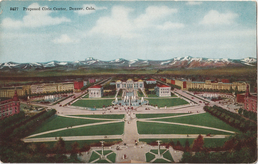 Proposed Civic Center Park Denver Colorado Postcard