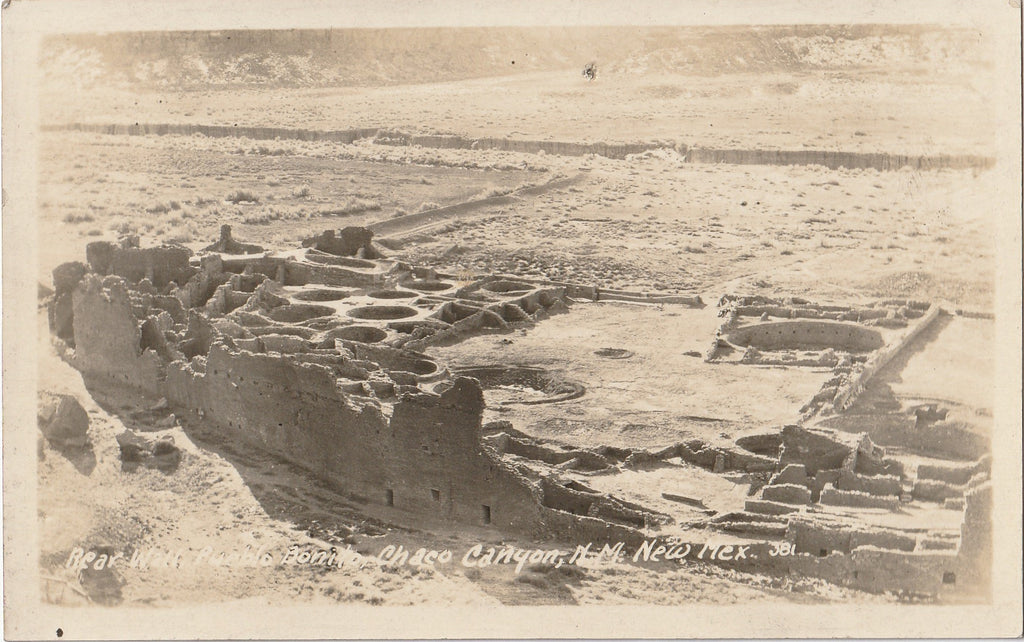 Pueblo Bonito Chaco Canyon New Mexico RPPC