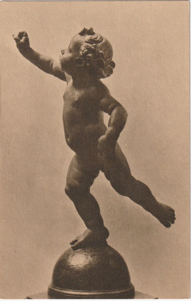 Putto Poised on a Globe - Andrea Del Verrocchio - Postcard, c. 1910s