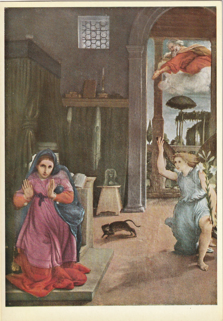 Recanati Annunciation Lorenzo Lotto Art Postcard