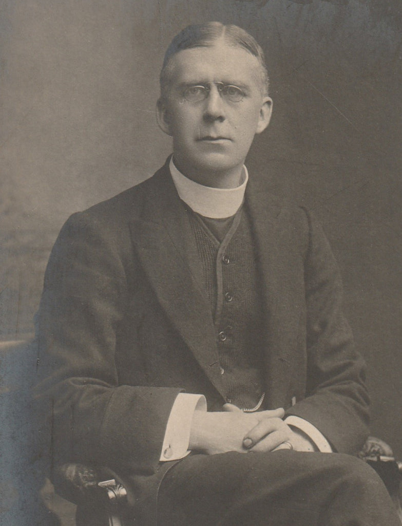 Rev. H. P. Cronshaw Signed RPPC Close Up