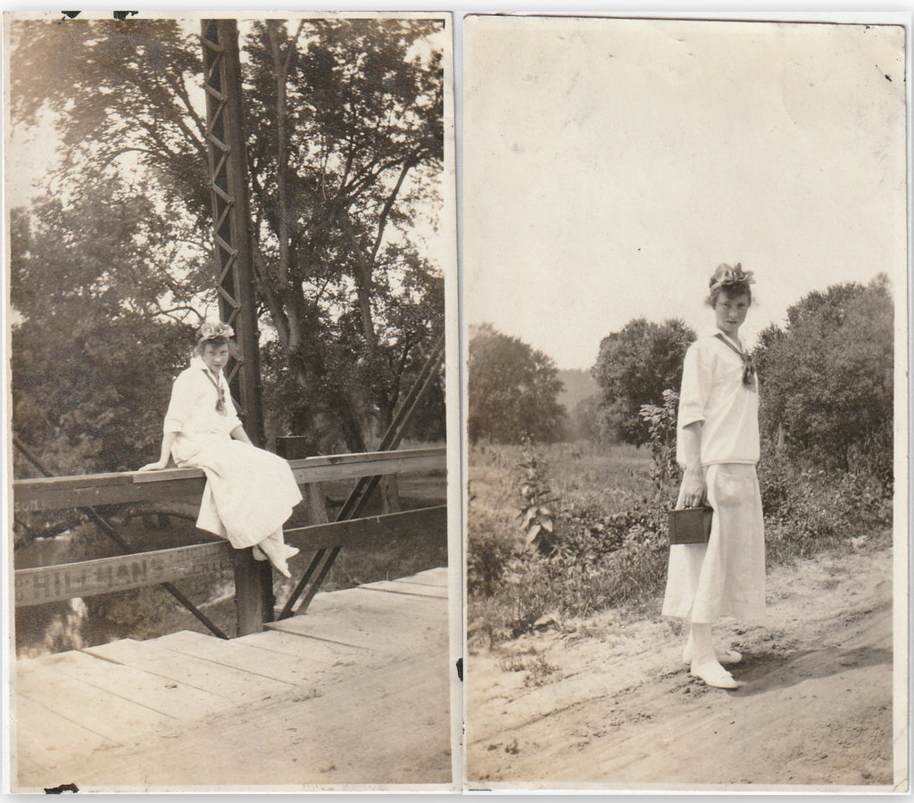 Richland Center, Wisconsin - SET of 2 - Snapshots, c. 1910s