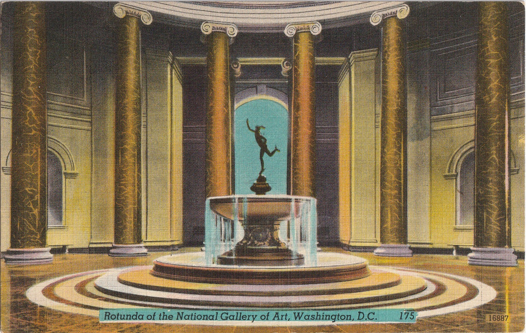 Rotunda of the National Gallery of Art Washington DC Postcard