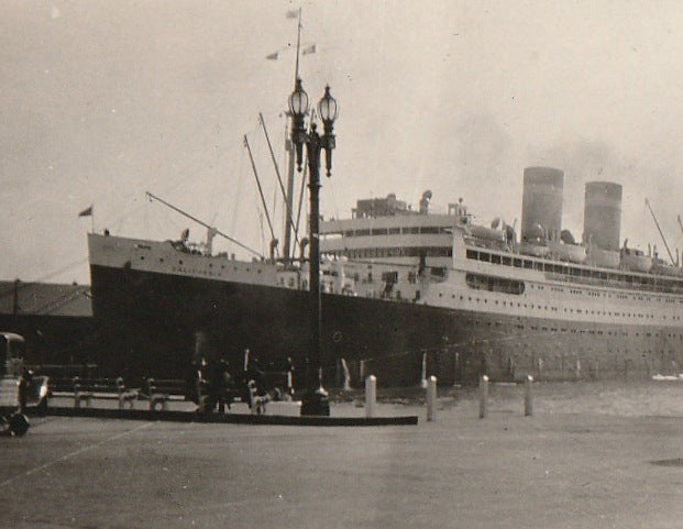 S. S. California Panama Pacific Line Photograph Close Up
