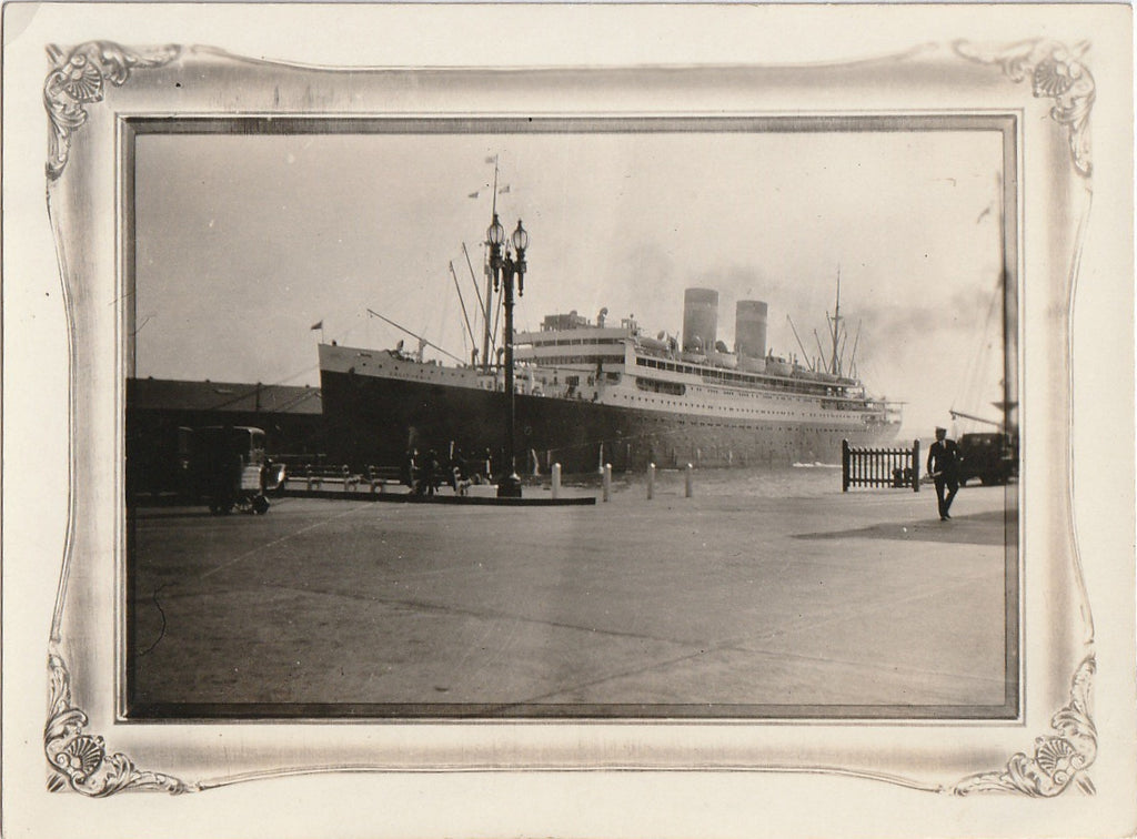 S. S. California Panama Pacific Line Photograph