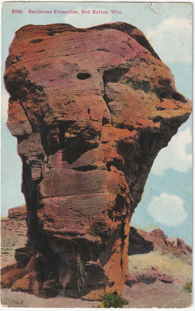 Sandstone Formation Red Butte Wyoming Postcard