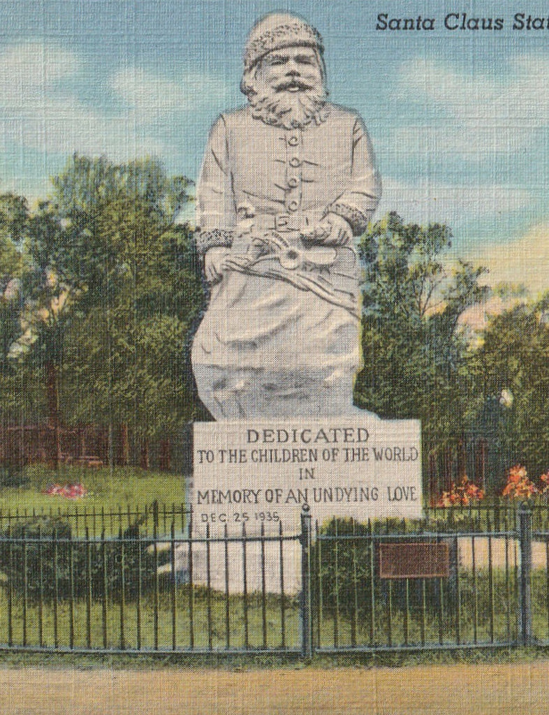 Santa Claus Indiana Vintage Postcard Close Up
