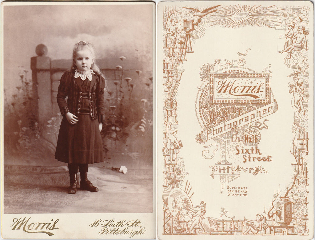 Secret Garden Girl - Pittsburgh, PA - Cabinet Photo, c. 1800s Front and Back