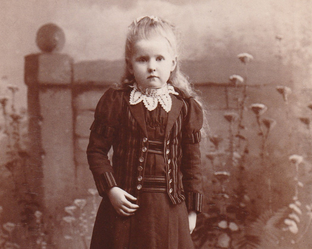 Secret Garden Girl - Pittsburgh, PA - Cabinet Photo, c. 1800s Close Up 2