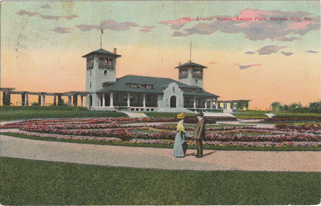 Shelter House, Swope Park - Kansas City, Missouri - Postcard, c. 1900s