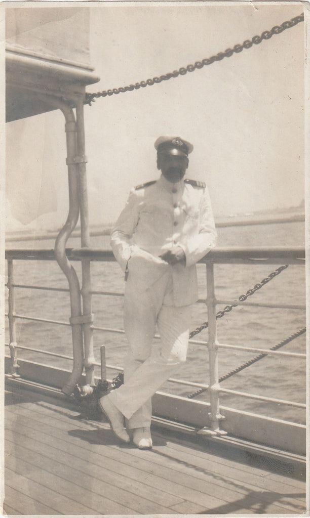 Ship's Doctor RMS Slavonia Photo c. 1908