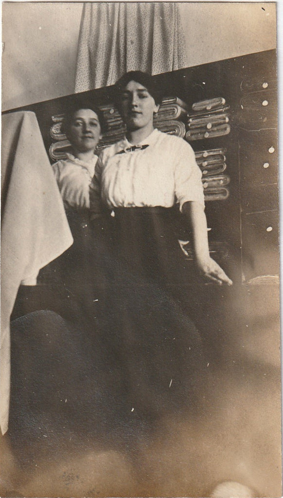 Shirtwaist Shop Girls Antique Photo 1