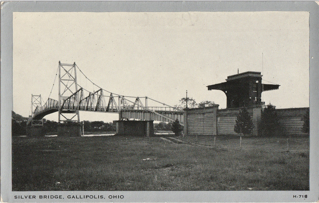 Silver Bridge - Gallipolis, Ohio - Postcard, c. 1950s