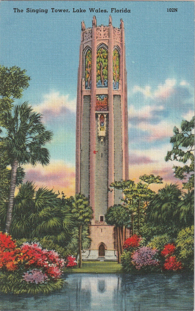 The Singing Tower - Lake Wales, FL - Postcard, c. 1940s