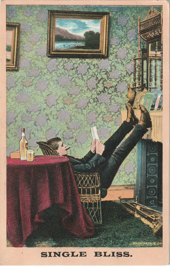 Single Bliss Bamforth Postcard