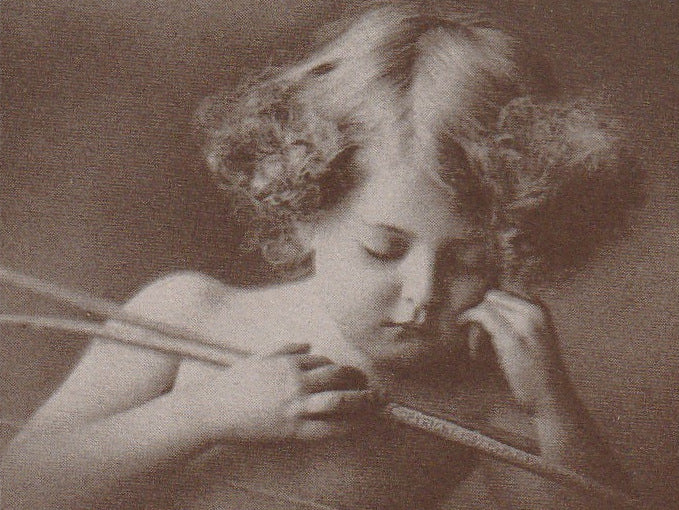 Sleeping Cupid M B Parkinson 1897 Antique Card Close Up 2