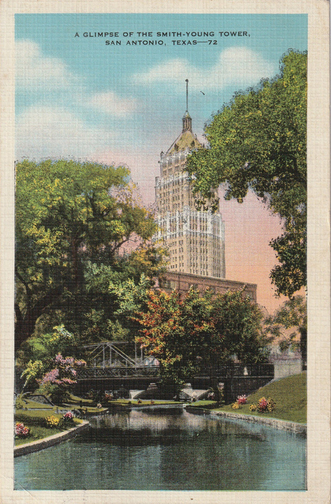 Smith-Young Tower Life Building - San Antonio, TX - Postcard, c. 1930s