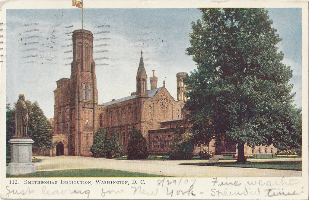 Smithsonian Institution Washington D.C. Postcard
