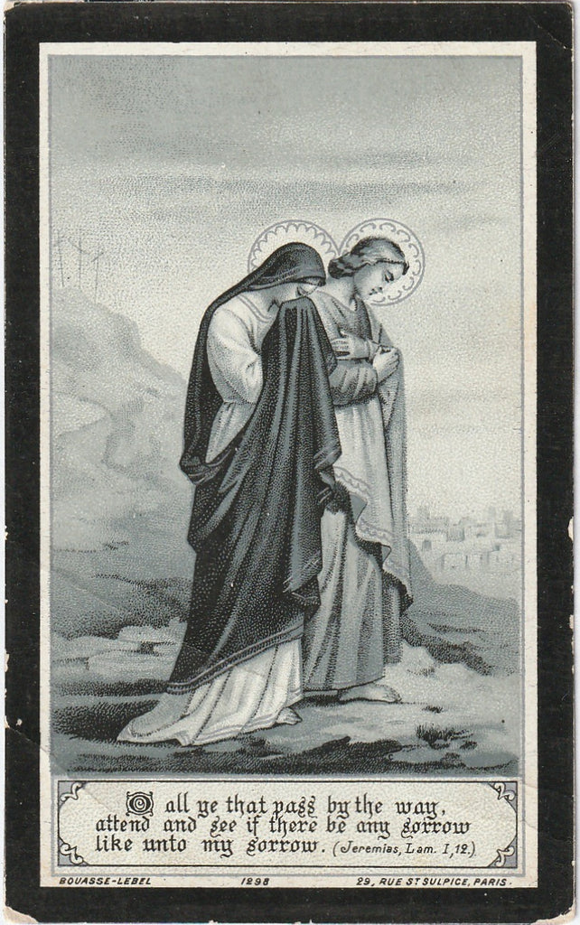 Sorrow Like Unto My Sorrow Bouasse-Lebel Mourning Prayer Card