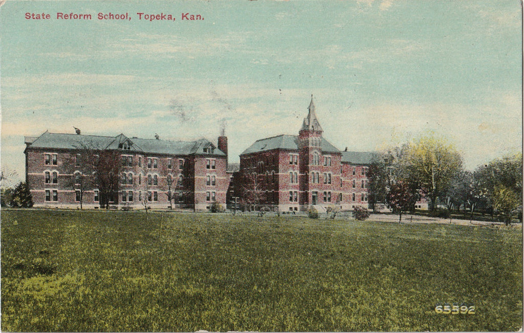 State Reform School Topeka Kansas Antique Postcard