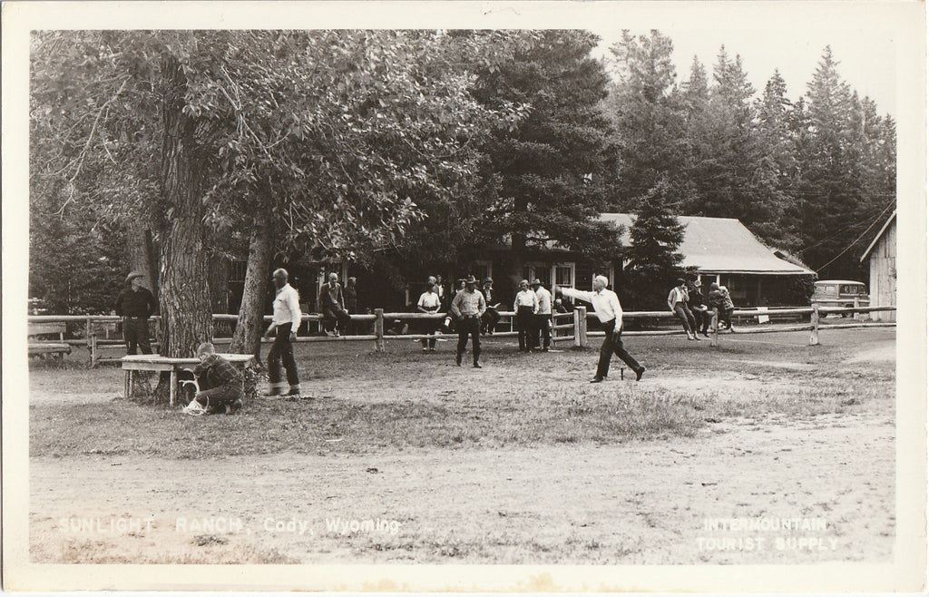 Sunlight Ranch Cody Wyoming RPPC