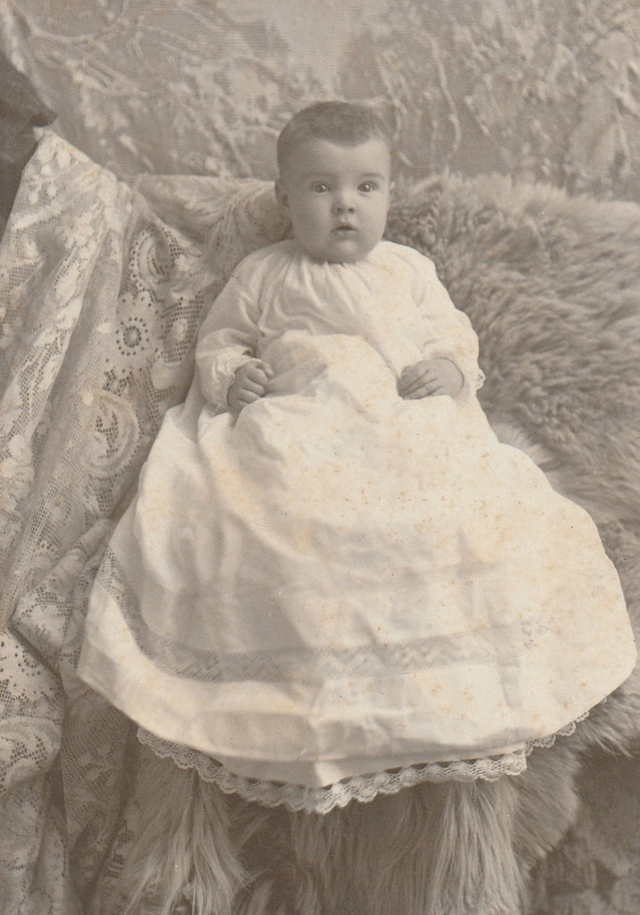 Victorian Baby Hidden Mother Cabinet Photo Close Up