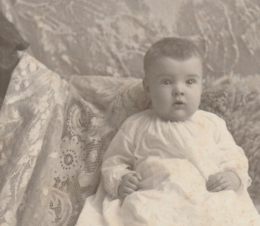 Victorian Baby Hidden Mother Cabinet Photo Close Up 3
