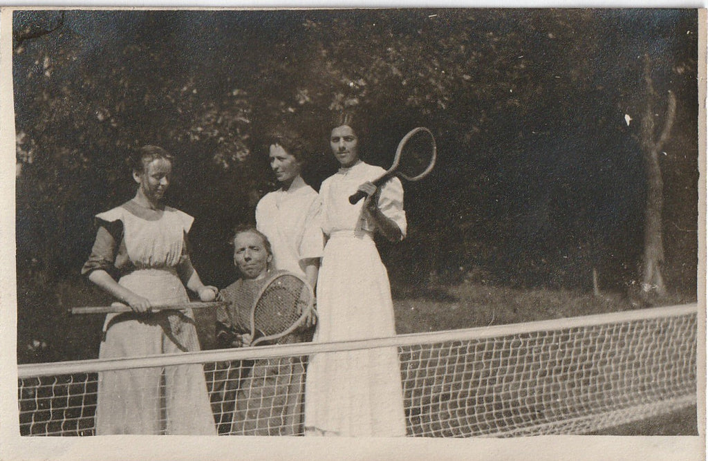 Tennis Anyone Little Person Antique Photo