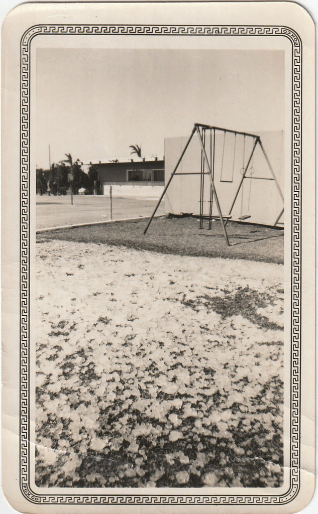 Texas Hail Storm Aftermath - Fox-Tone Snapshot, c. 1951
