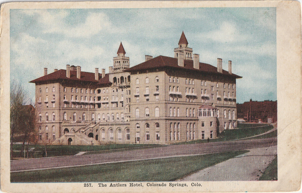The Antlers Hotel Colorado Springs CO Postcard