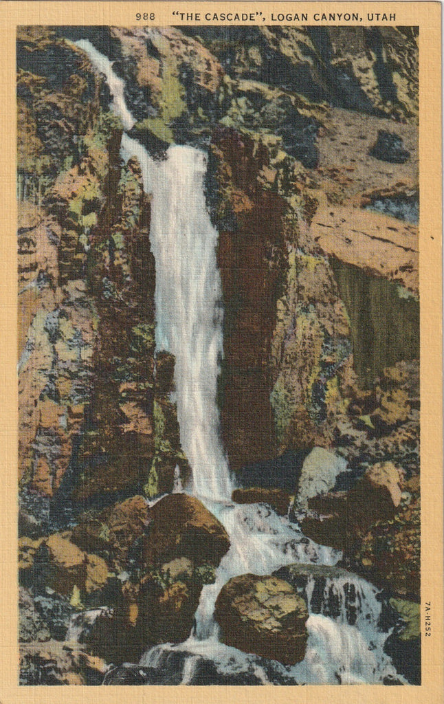 The Cascade - Logan Canyon, Utah - Postcard, c. 1930s