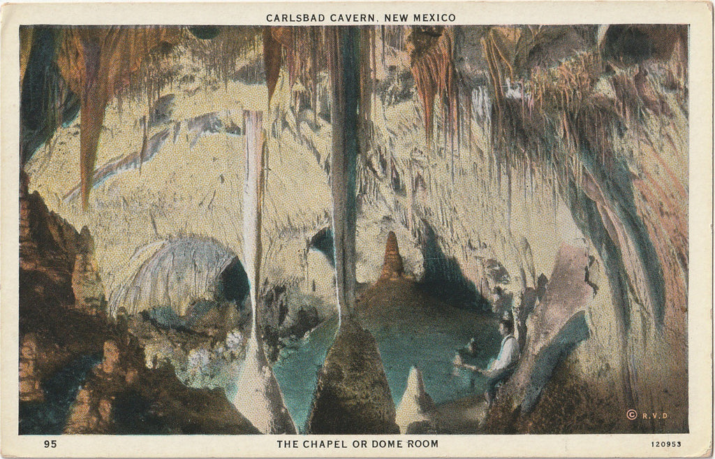 The Chapel or Dome Room Carlsbad Cavern Postcard
