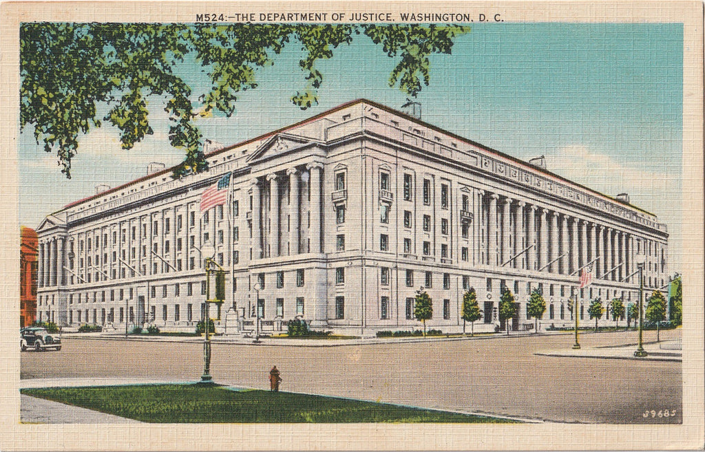 The Department of Justice Washington DC Postcard
