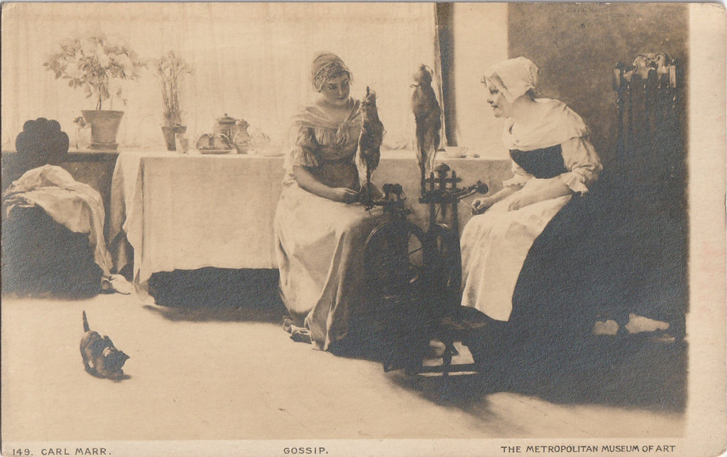 The Gossip - Carl Von Marr - Metropolitan Museum of Art - RPPC, c. 1910s