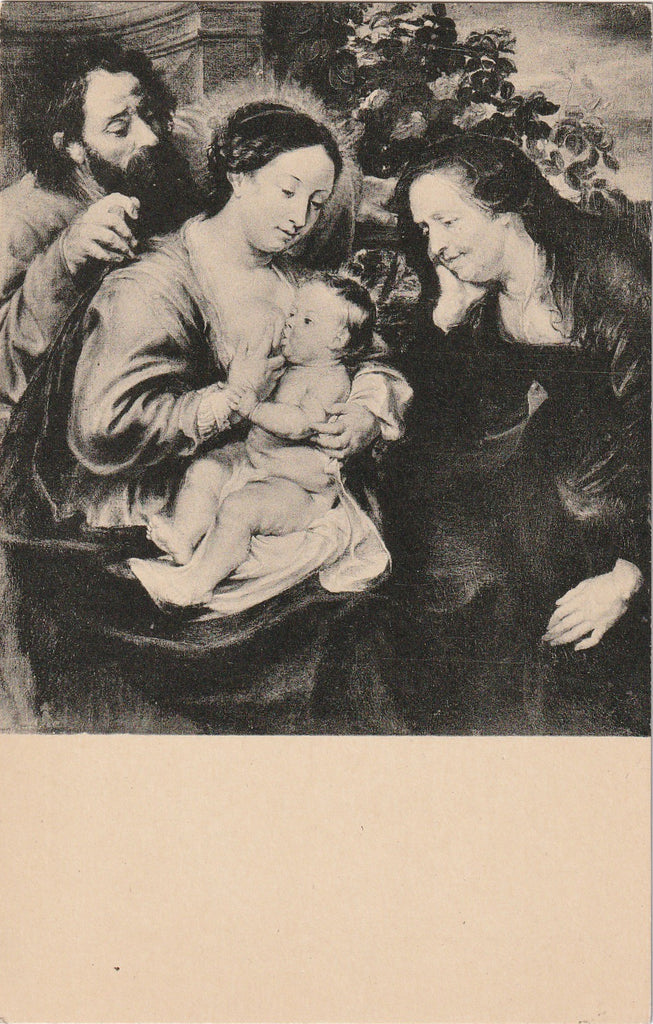 The Holy Family with St. Elizabeth- Peter Paul Rubens - Postcard