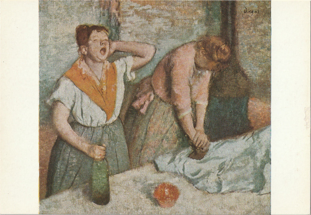 The Ironers by Edgar Degas Postcard