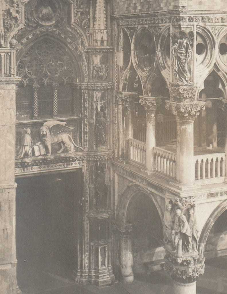 The Lion of Saint Mark - St. Mark Cathedeal, Venice RPPC Close Up