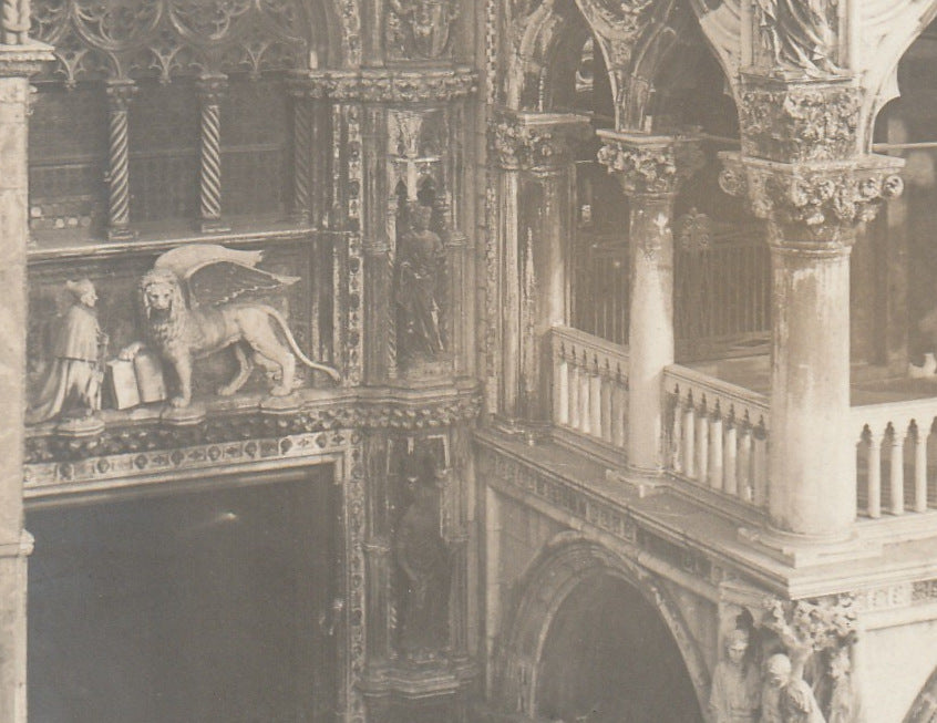The Lion of Saint Mark - St. Mark Cathedeal, Venice RPPC Close Up 2